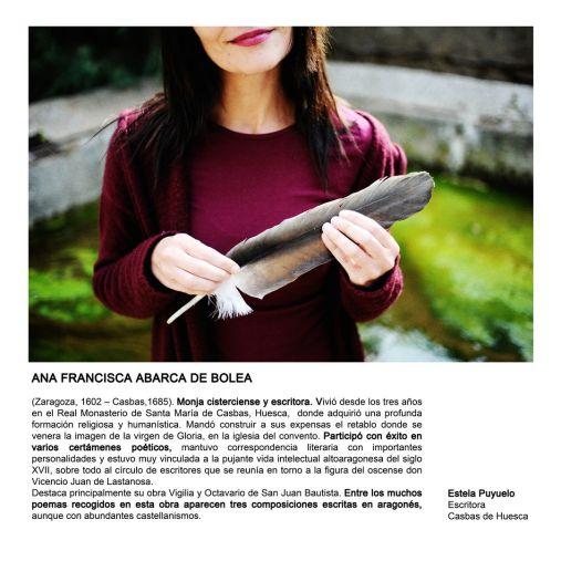 Pioneros de Huesca 1 Ana Francisca Abarca de Bolea_Estela Puyuelo